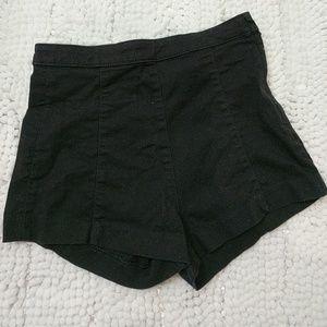 NWOT black highwaist shorts